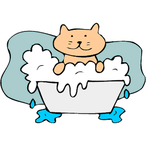 Bath clipart cat. In cliparts of free