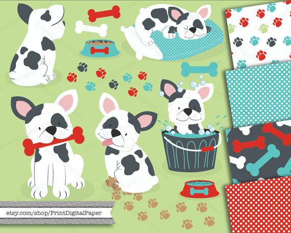 Puppy dog french bulldog. Bath clipart chihuahua