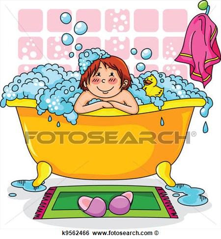 Bath clipart child. For kids panda free