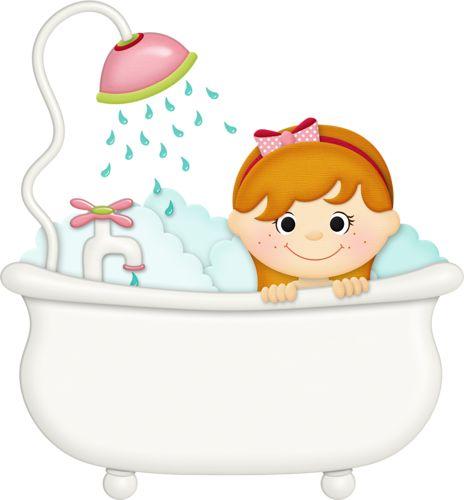 best time images. Bath clipart child