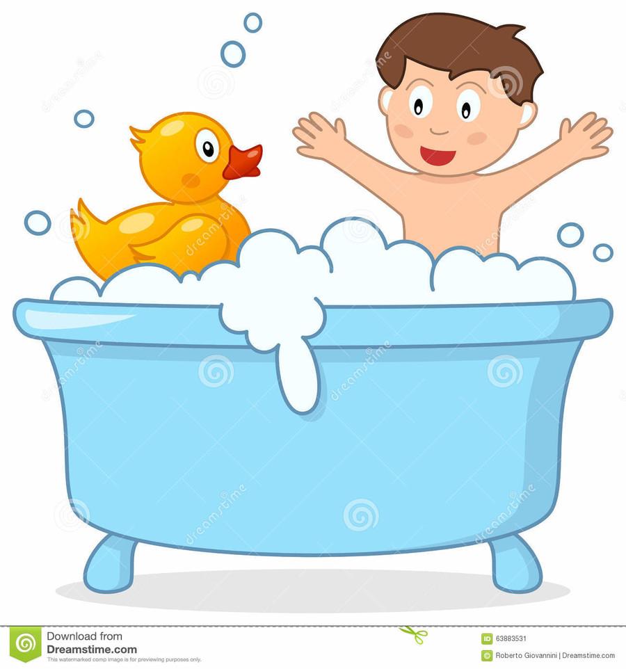 Download kid clip art. Bath clipart child