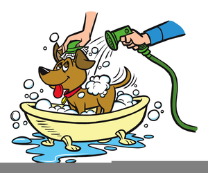 Bath clipart clip art. Dog getting free images