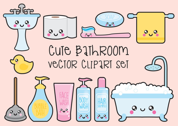 Candles clipart kawaii. Premium vector bathroom