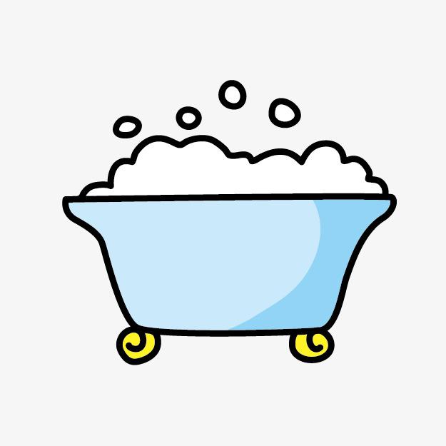 Cartoon bathtub bubble png. Bath clipart cute