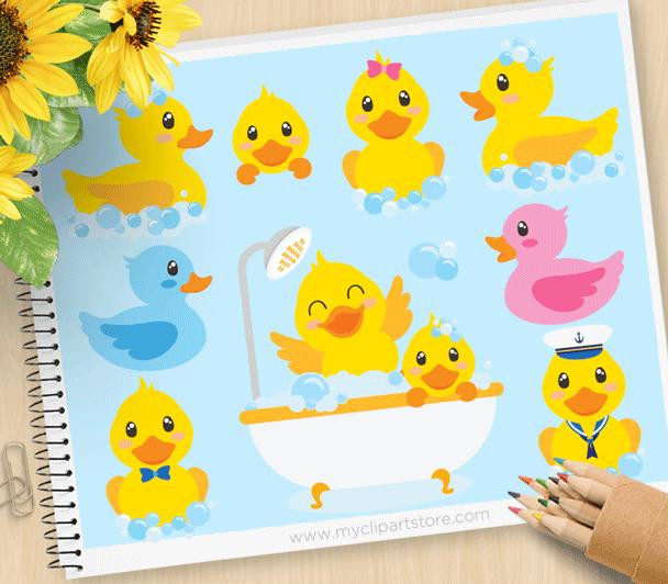 Bath clipart cute. Time ducky premium vector