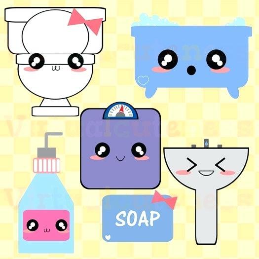 Bathroom toilet clip art. Bath clipart cute