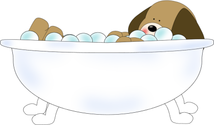 Dog in tub download. Bath clipart cute