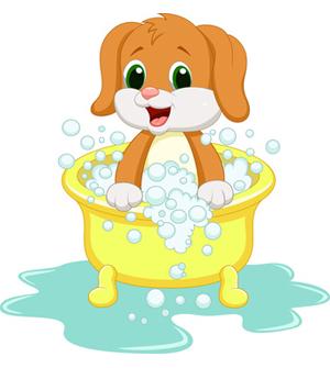 Dog clip art puppy. Bath clipart cute