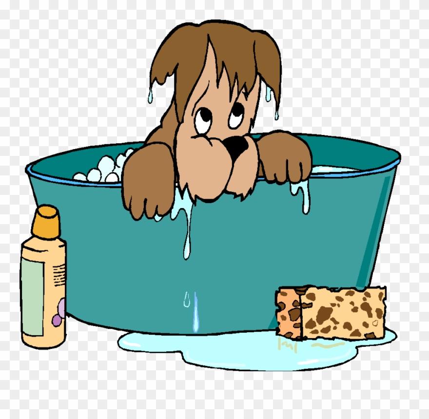 Bath clipart dog bath. Free clip art grooming