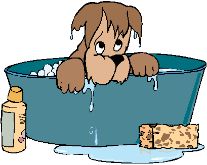 Little grooming denver got. Bath clipart dog bath