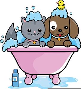 Free images at clker. Bath clipart dog bath