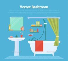 Bathroom room vector free. Bath clipart empty