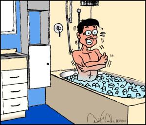 Bath clipart ice bath. Taking baths for increasing