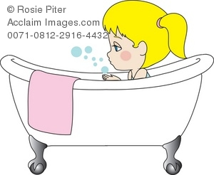 Royalty free of a. Bath clipart illustration