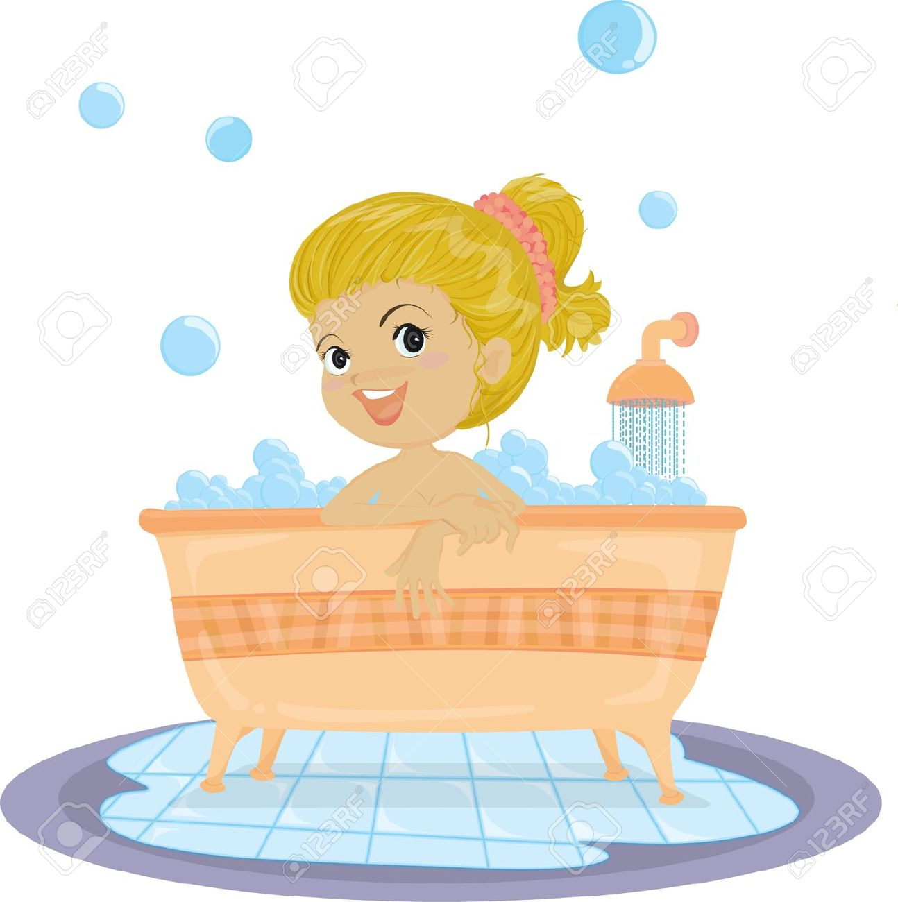 Bath clipart illustration. Having a
