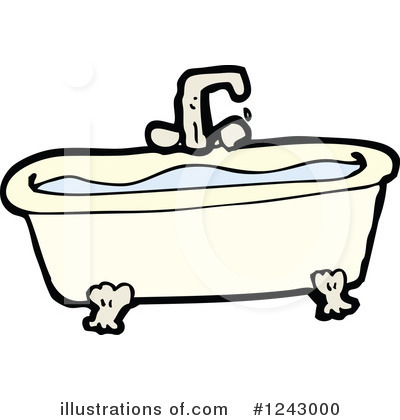 Tub clipart. Bath illustration by lineartestpilot