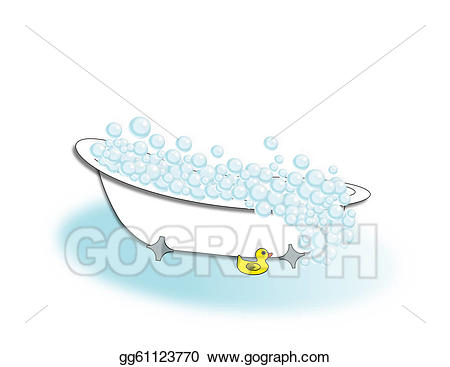 Stock illustration bubble drawing. Bath clipart old fashioned