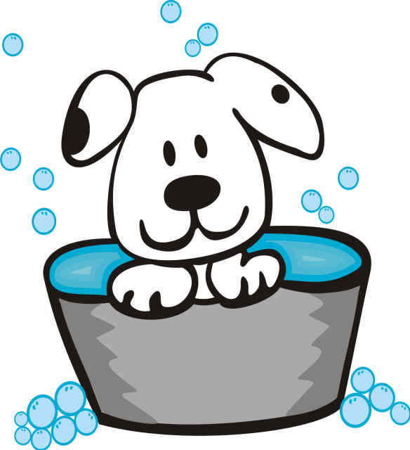 Free pet grooming cliparts. Dogs clipart bath
