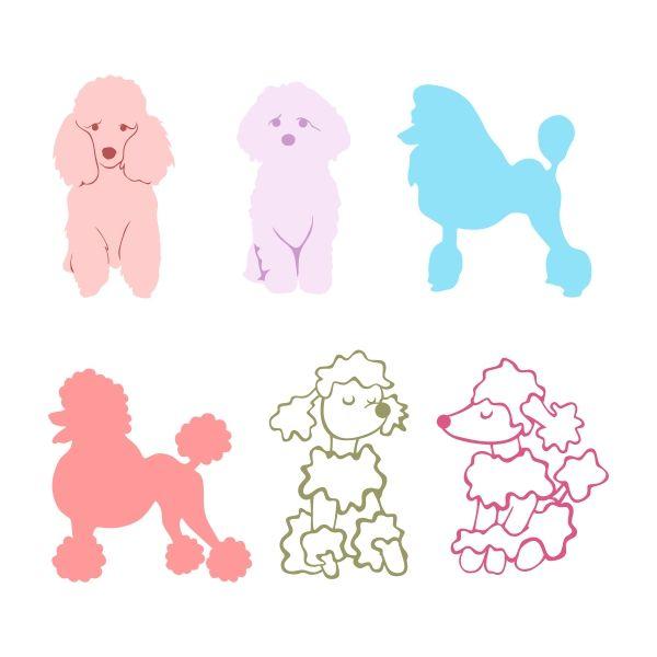 Bath clipart poodle. Cuttable design cut file