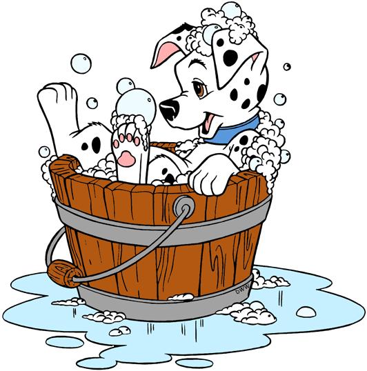 dalmatians puppies clip. Bath clipart puppy