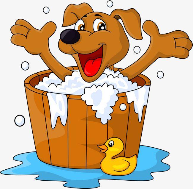 Bath clipart puppy. The bathtub dogs take