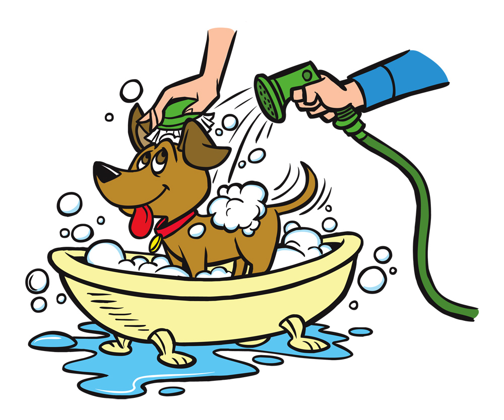 collection of dog. Bath clipart puppy