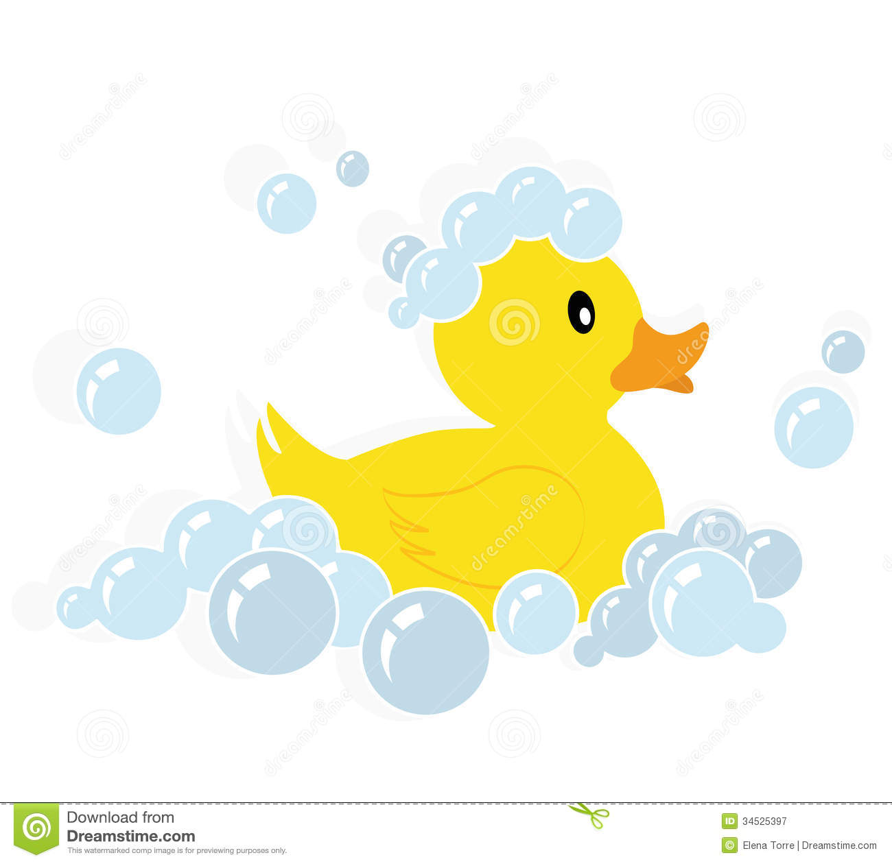 Bath rubber ducky