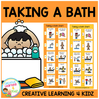 Bath clipart sequence. Taking a worksheets teaching
