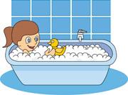 Free children kids clip. Bath clipart take