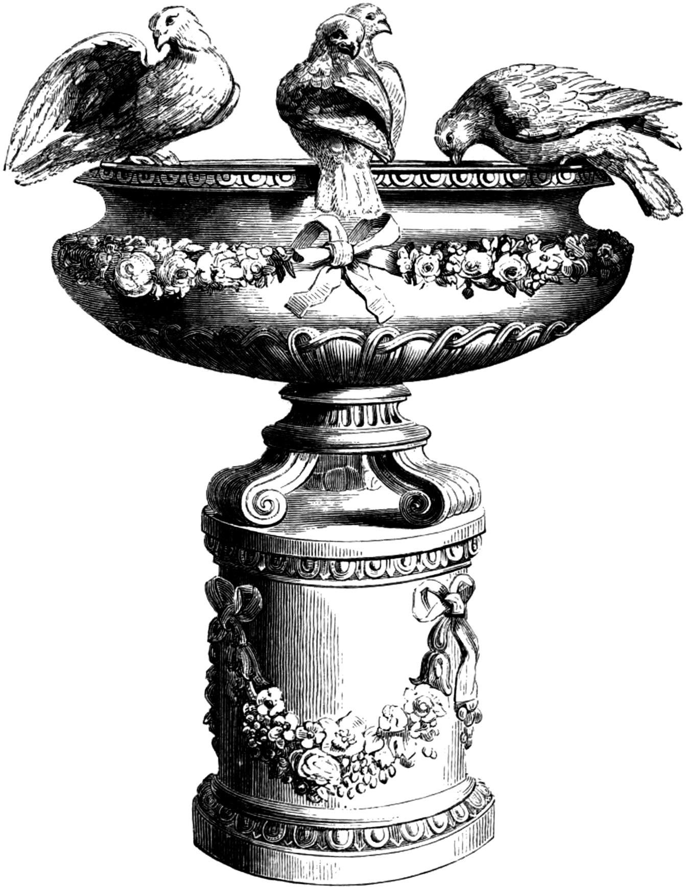 Free clip art vintage. Bath clipart victorian