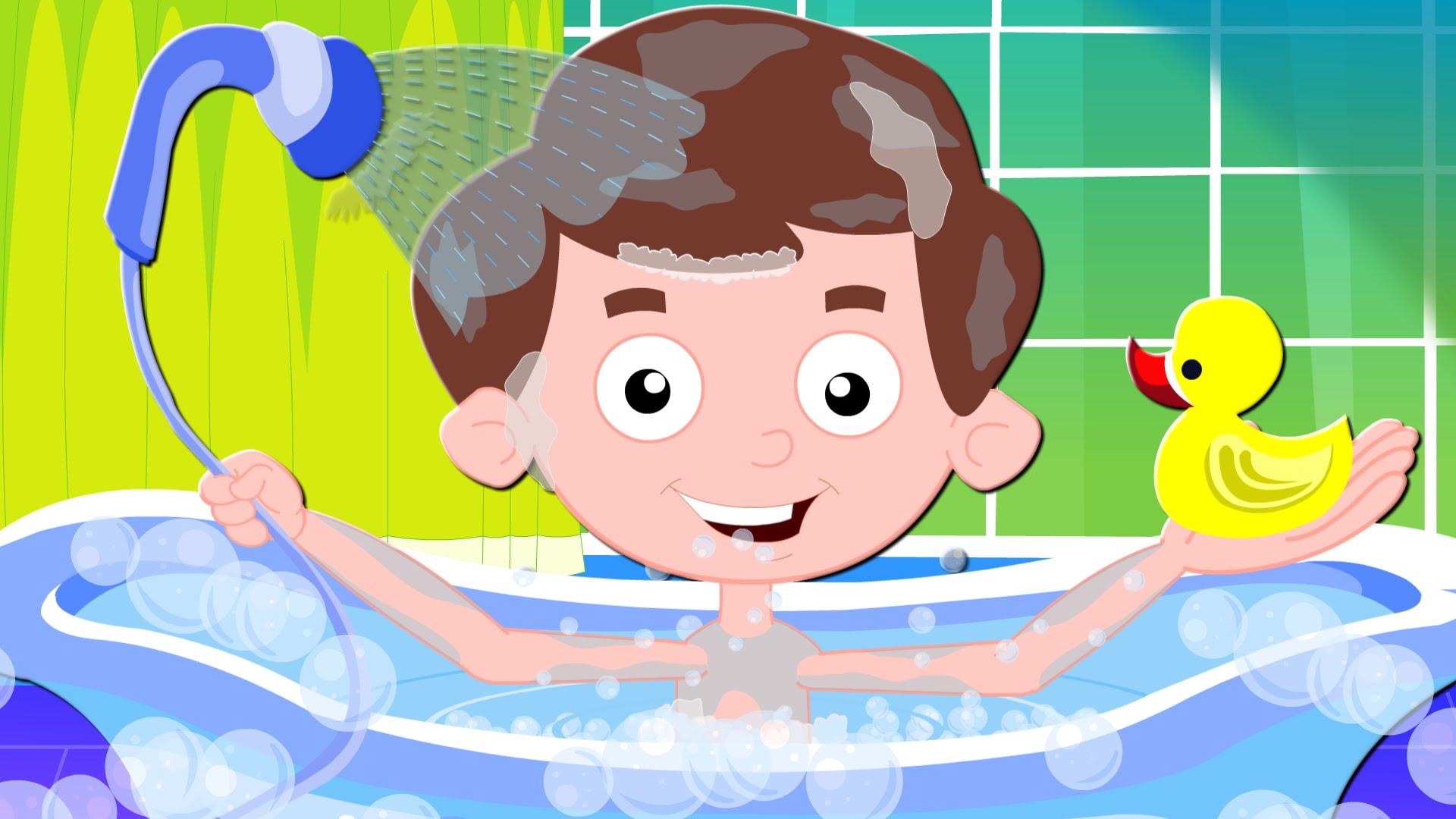 Song nursery rhymes for. Bath clipart warm bath