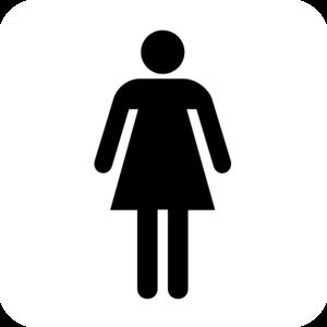 Bath clipart woman. Bathroom bw w o