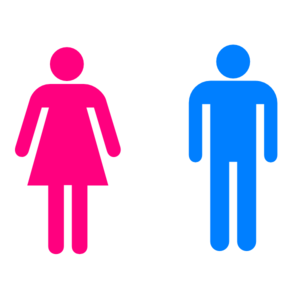 Large man bathroom sign. Bath clipart woman