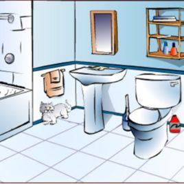 Free clip art download. Bathroom clipart
