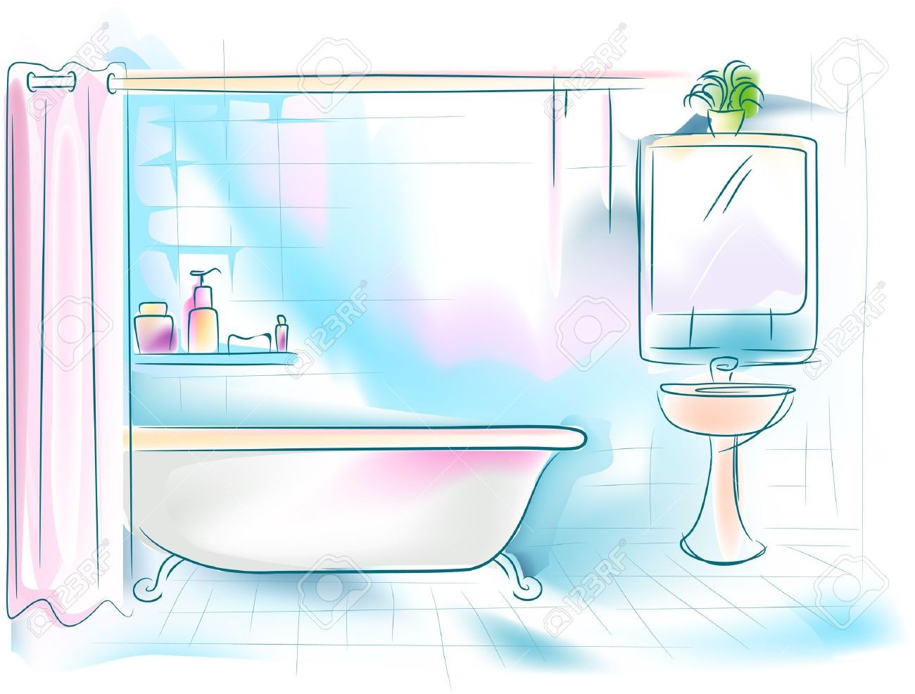 Cliparting com elegant looking. Bathroom clipart