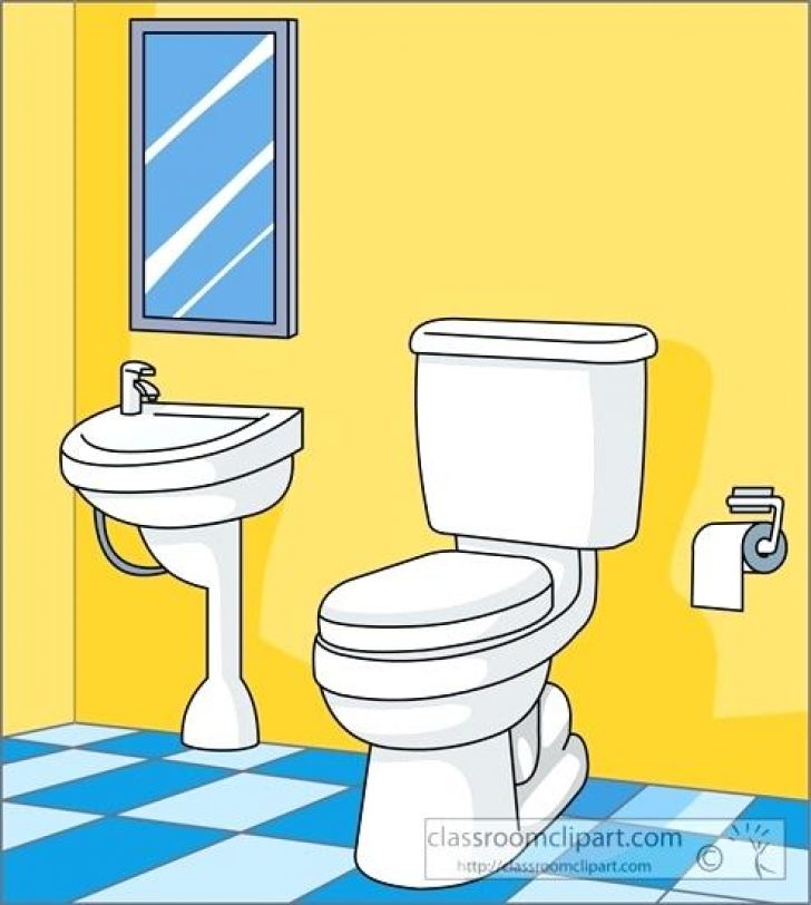 Elementary school x free. Bathroom clipart