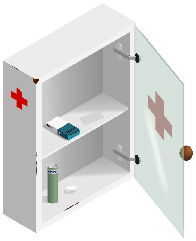 Medication clipart medecine. Bathroom cabinet