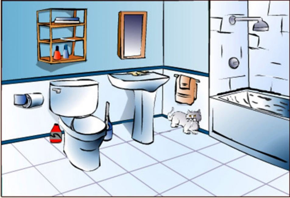 Clipart bathroom. For kids free images