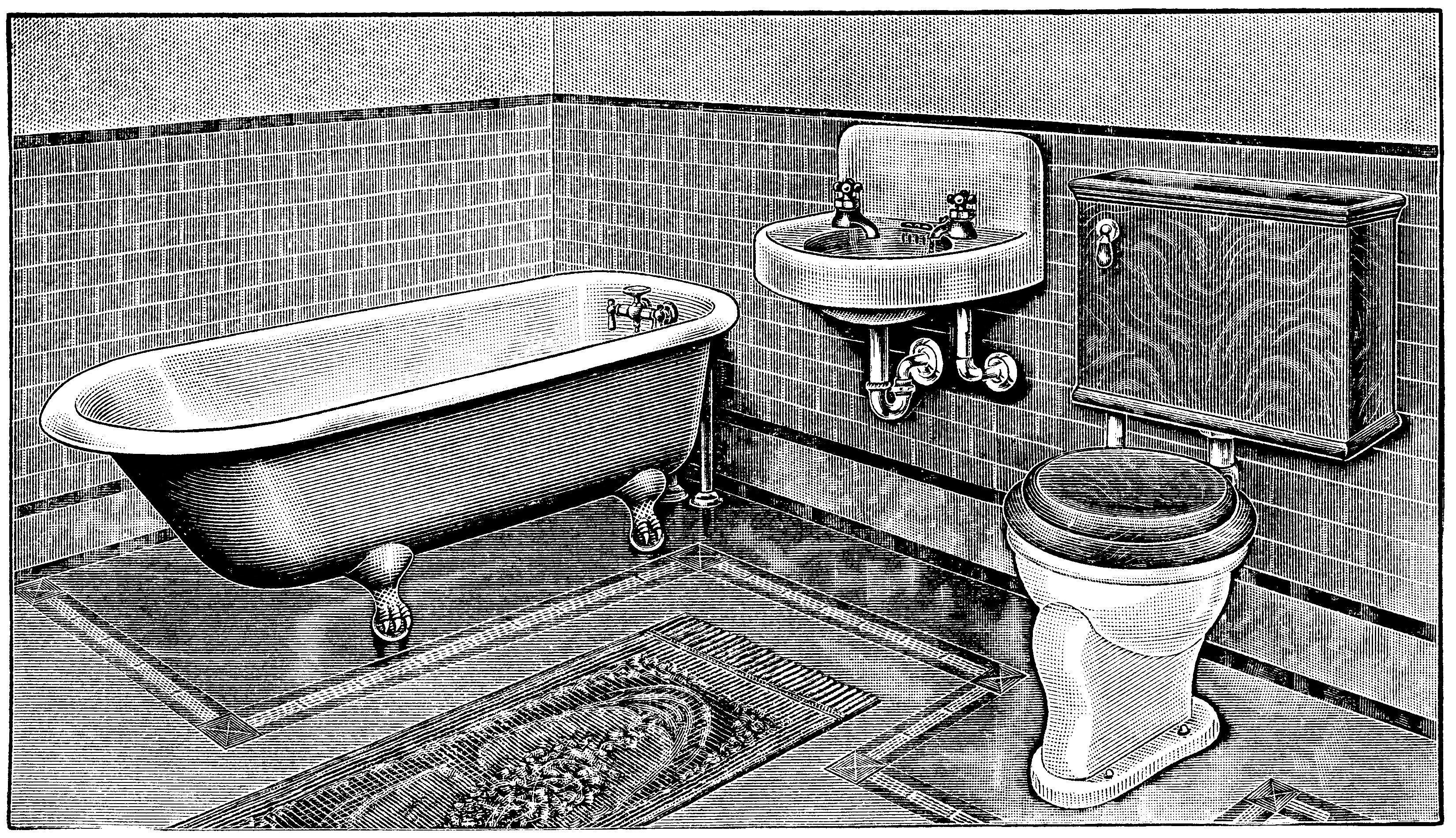 Vintage clip art claw. Clipart bathroom bathrom