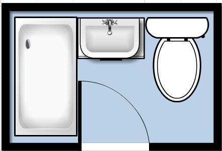 Bathroom clipart bathroom floor. Re plumbing the hall