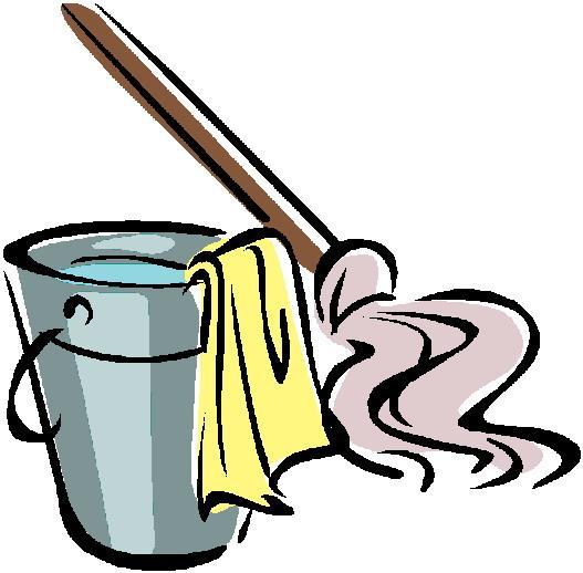 Kids cleaning bathroom panda. Housekeeping clipart pail