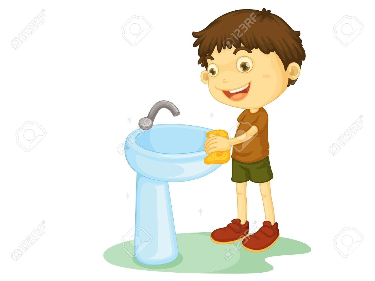 Clean clipart clean bathroom. Kids cleaning letters avaz