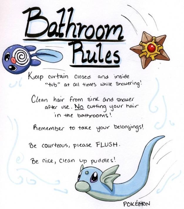 Bathroom clipart comfort room. Toilet rules pencil and