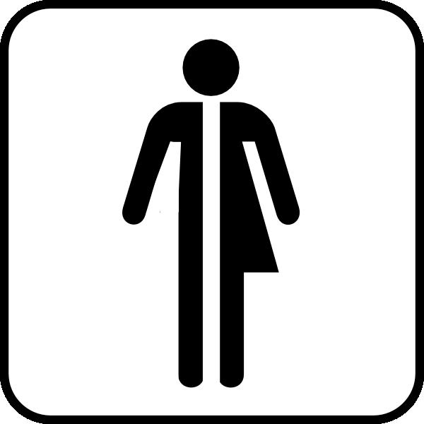 Clipart bathroom logo. Unisex clip art at