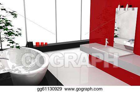 Stock illustrations luxury. Bathroom clipart modern bathroom