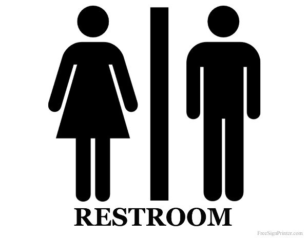 Clipart bathroom signage. Free signs download clip