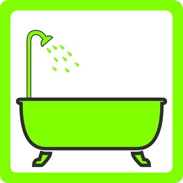 Showering clipart water usage. Bathtub with shower clip