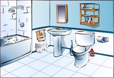 Clip art for preschool. Bathroom clipart