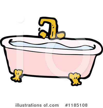 Bathtub clipart. Illustration by lineartestpilot royaltyfree