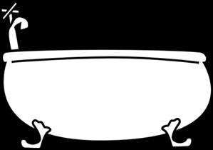 Clip art at clker. Bathtub clipart